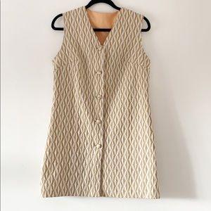 Textured Vintage Sleeveless Shift Dress